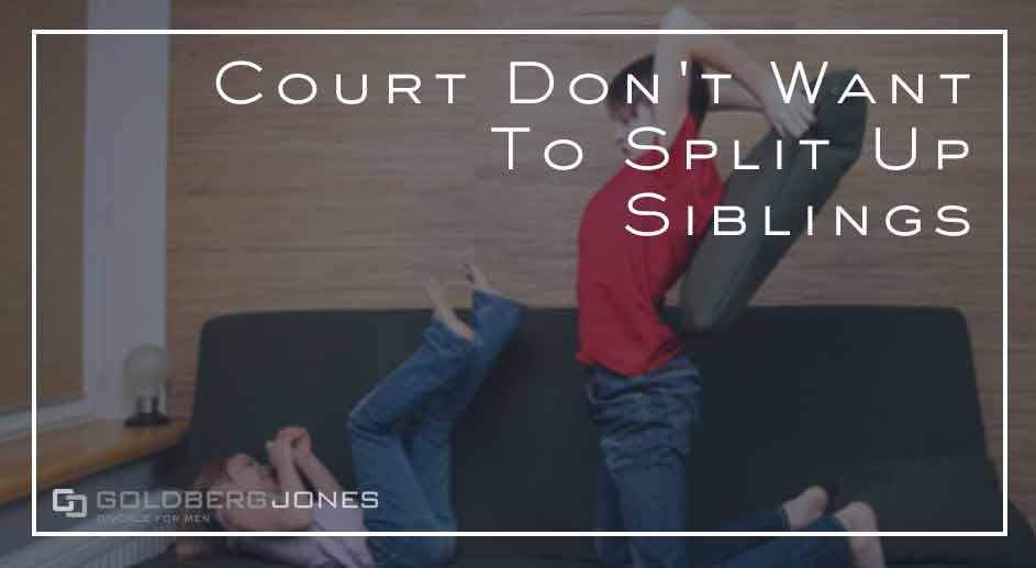 courts rarelt have reasons to split siblings