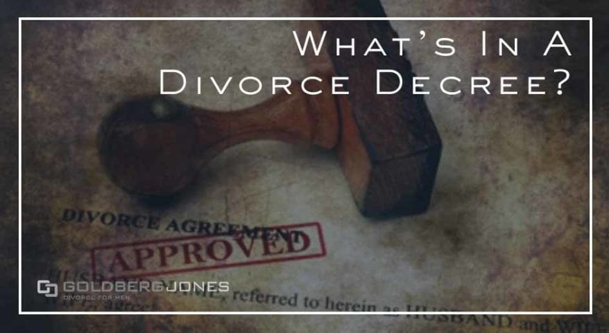 what's in a divorce decree
