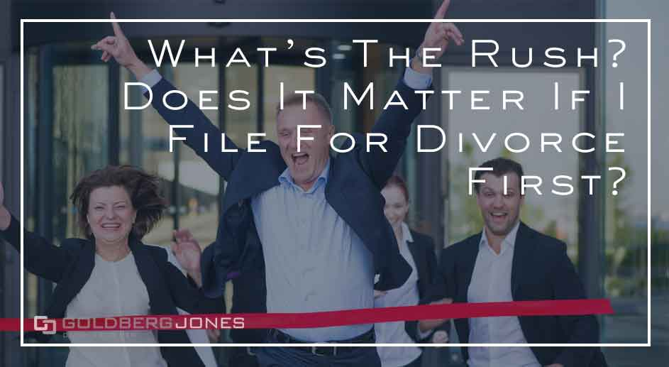 does it matter if you file divorce first?