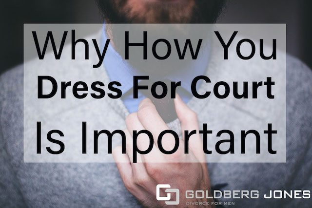 man dressing for court