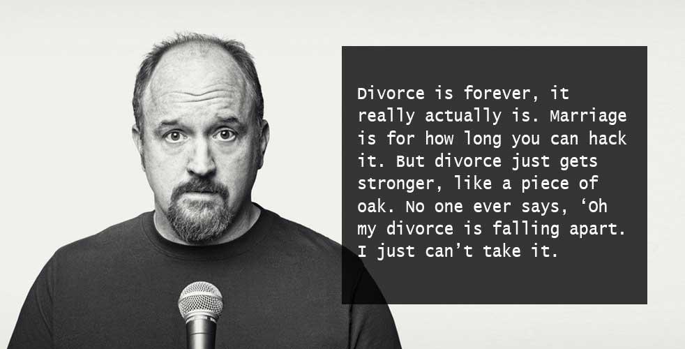 advice on divorce louis ck