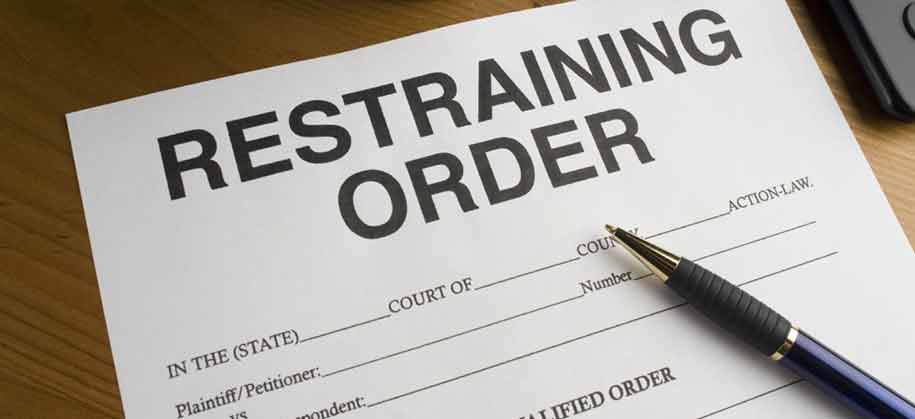 restraining orders finances assets