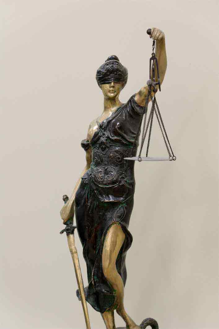 Our Lady Justice statue.