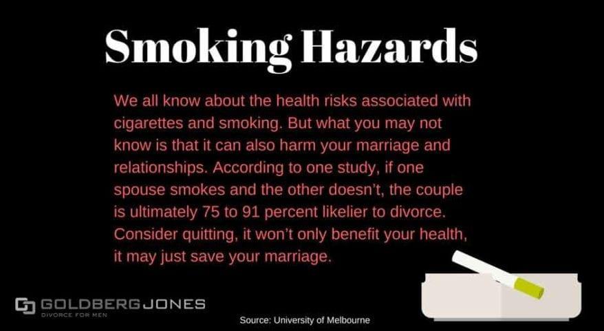 smoking affects divorce