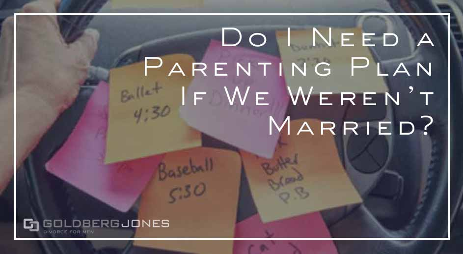 if not married do you still need a parenting plan