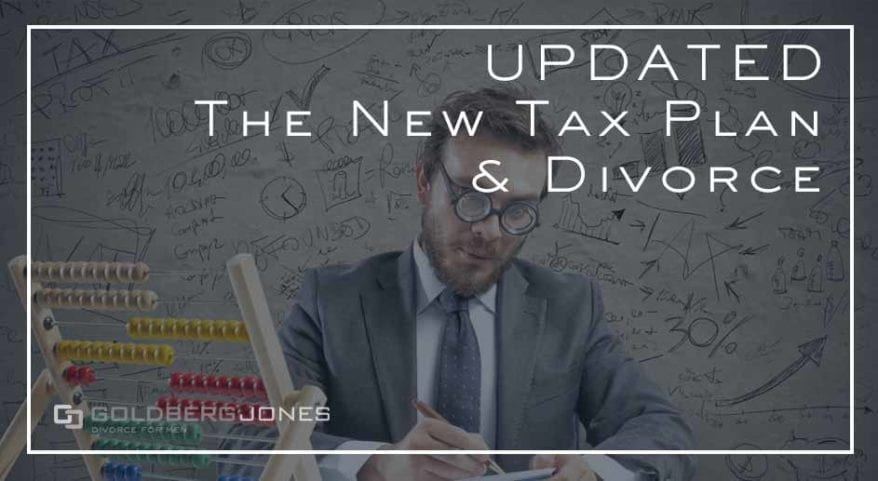 tax plans effect on divorce and spousal maintenance