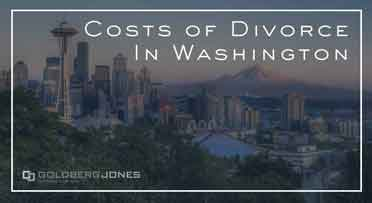 how much is divorce in washington