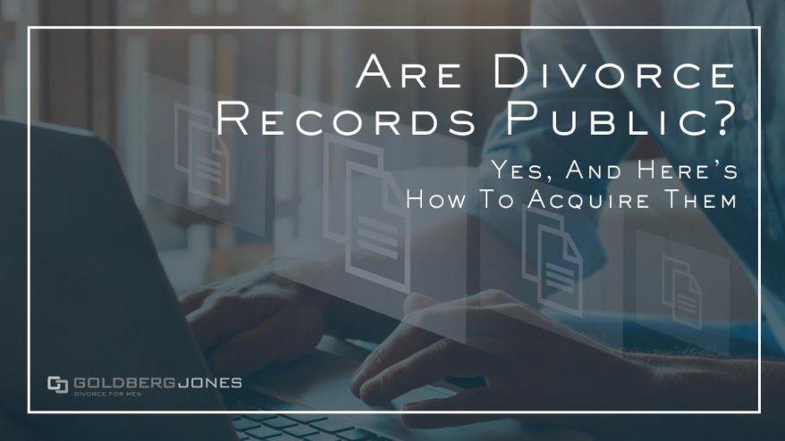 how do you acquire divorce records